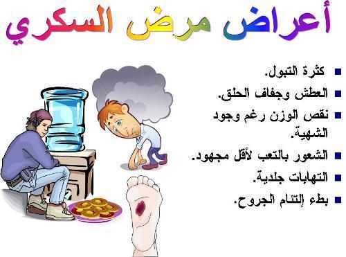 اعراض مرض السكري من النوعين